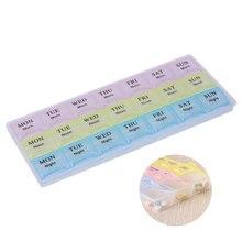 7 дней в неделю 21/14/28 крышка отсека планшетный ПК таблетки коробка чехол держатель для хранения лекарств таблетки Организатор сплиттер Pastillero