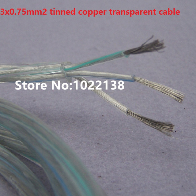 transparent 3*0.75mm power cord electric cable with 1.0mm supporting ...