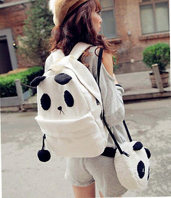 Fashion Cute Women Style Panda Schoolbag Backpack Shoulder Book Bag Set чехол для карточек cute panda дк2017 117