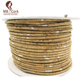 3 meter 3mm round natural and sliver cork cord jewelry Portuguese cork supplies /Findings cord Environmentally Friendly Cor-31