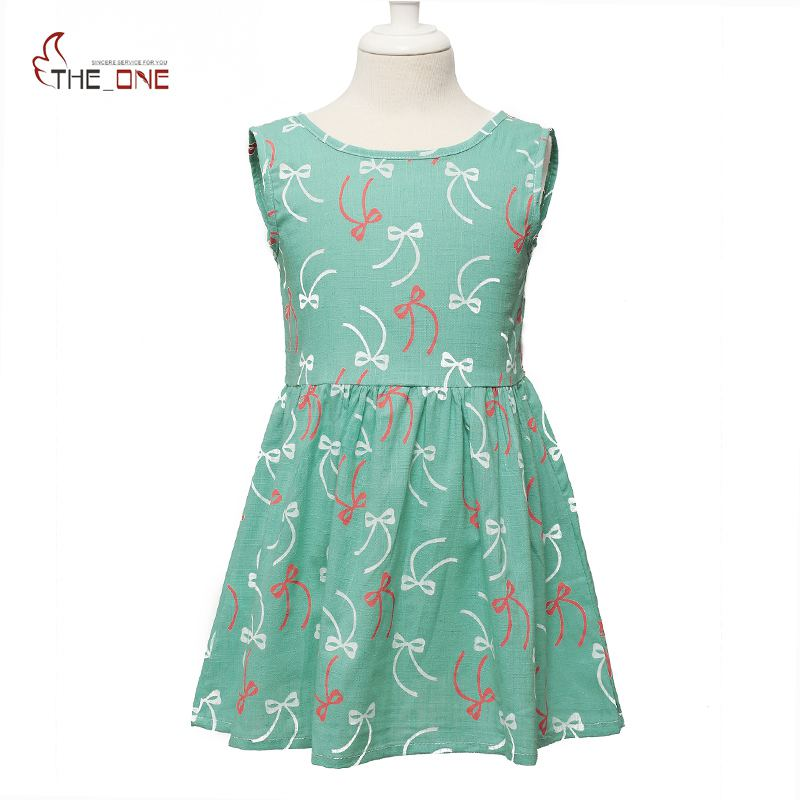 MUABABY Girls Summer Dress Sleeveless Flower Print Bow Ribbon Backless Beach Dresses Kids Girl Casual Clothes Cotton Sundress unini yun 2 7t girl dress baby kids summer flower cherry backless sundress girl cotton sleeveless princess beach casual dresses