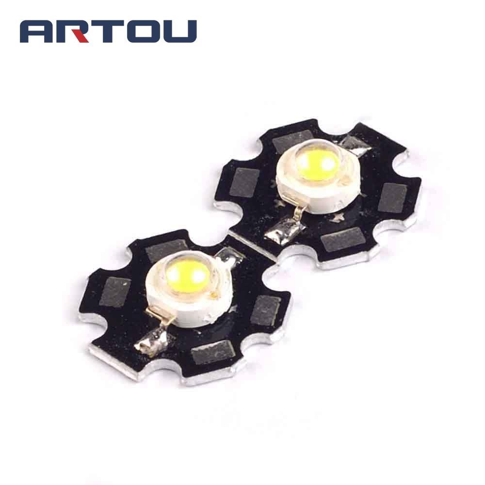 10PCS 3W High Power LED White Light Astigmatism Lighting LED 140-160LM Plum-shaped Aluminum Plate