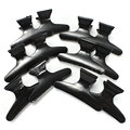 12Pcs Hair Dressing Black Hair Clamps Clips Claw Section Butterfly Styling Tools