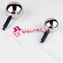 Electrosex Monopolar Electrode Lollipop Anal Ball Steel Hollow Adult Estim Play Unit  Adult Sex Products
