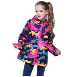 Crianças jaquetas menina blusão forro fino menina com capuz manto grandes meninas jaquetas casaco de chuva à prova dwindproof água vento primavera outono