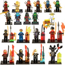 Legoing Ninjago Snake Ninja Blocks Figure Movie Snake Army Sensei Wu Lantern Lead Legoings Figures Ninjagoes Blocks Toys Ninjago(China)