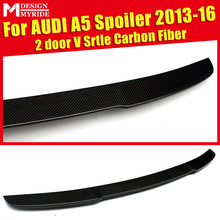 For Audi A5 A5Q Carbon Spoiler V-Style rear spoiler Rear trunk Lid Boot Lip awing Tail Coupe 2-Doors car styling 13-16