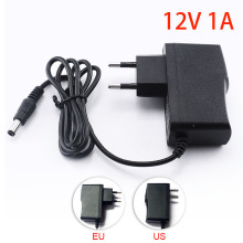 Gakaki 12V 1A 1000mA US EU Plug 100-240V AC to DC Power Adapter Supply Charger Charging adapter for LED Strip Light CCTV