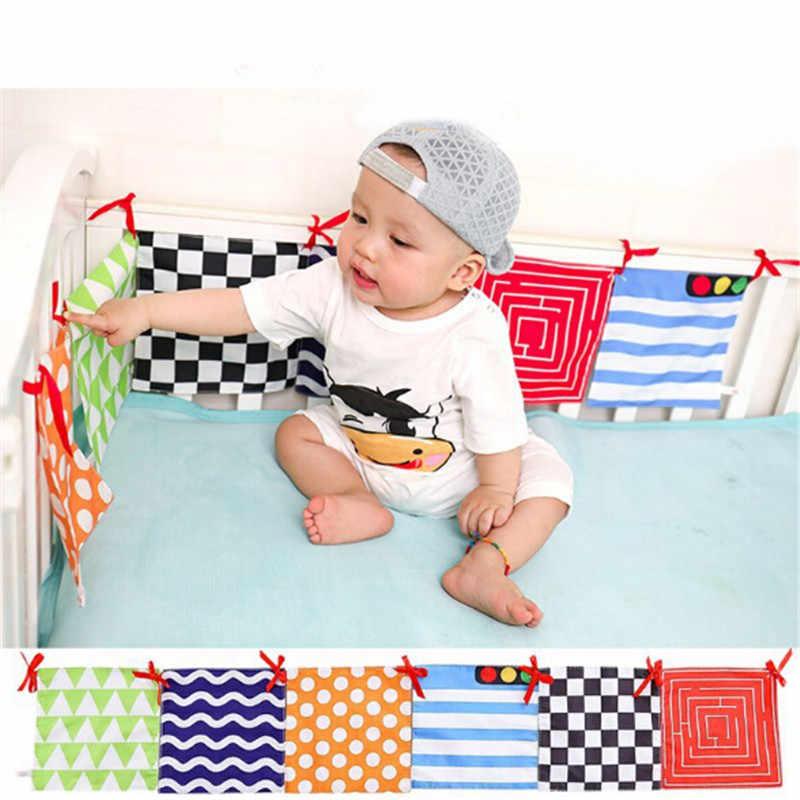 2019 cama de bebé parachoques amigable con la piel cuna parachoques para bebé Accesorios lavables para la cama de bebé parachoques alrededor de la cama Protector