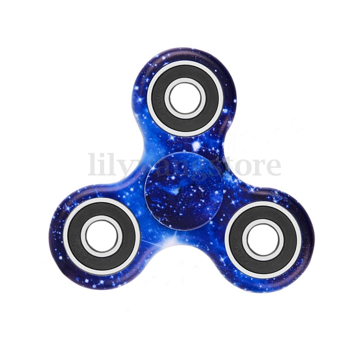 3D Fidget Hand Finger Spinner EDC Focus Stress Reliever Toys Purple Galaxy Sky