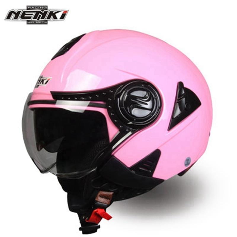 ФОТО ECE Approve Nenki Brand Double Lens Open Face Motorcycle Helmet Electrical Scooter Capacete Cascocapacete Motoqueiro Casque Moto