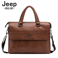 Top Sell Fashion Simple Dot Jeep Famous Brand Business Men Briefcase Bags Leather Laptop Bag Casual