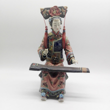 Handicraft Sculpture Chinese Lady Statue Ceramics Manual Craft Art Ornaments Classical Ladies Figure