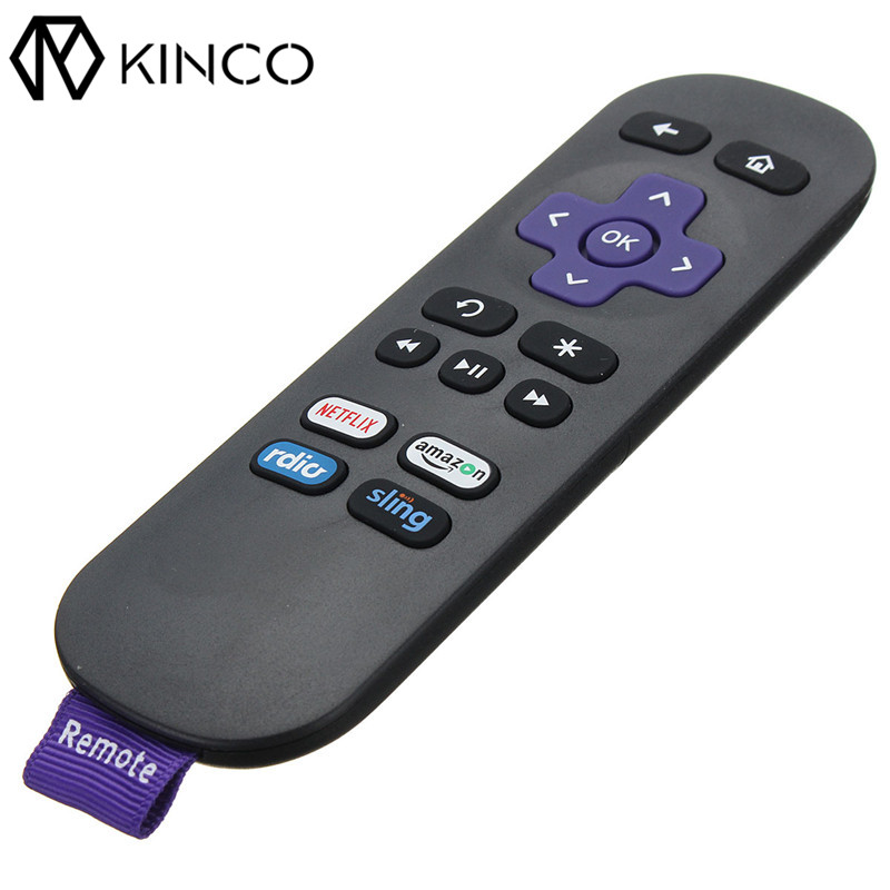 KINCO Universal TV Remote 16 Key Multi-functional TV Remote Controller Replacement Applicable for ROKU LCD TV DVD CBL VCR universal tv dvd vcd remote controller 2 aa
