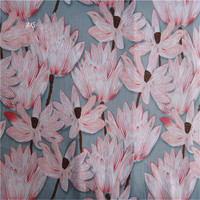 pure abstract lotus lines printed fabrics