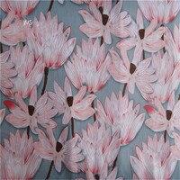 pure abstract lotus lines printed fabrics