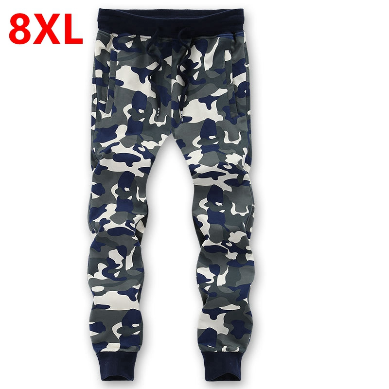 spring and autumn big size men s casual pants 7XL pants plus size loose knit camouflage