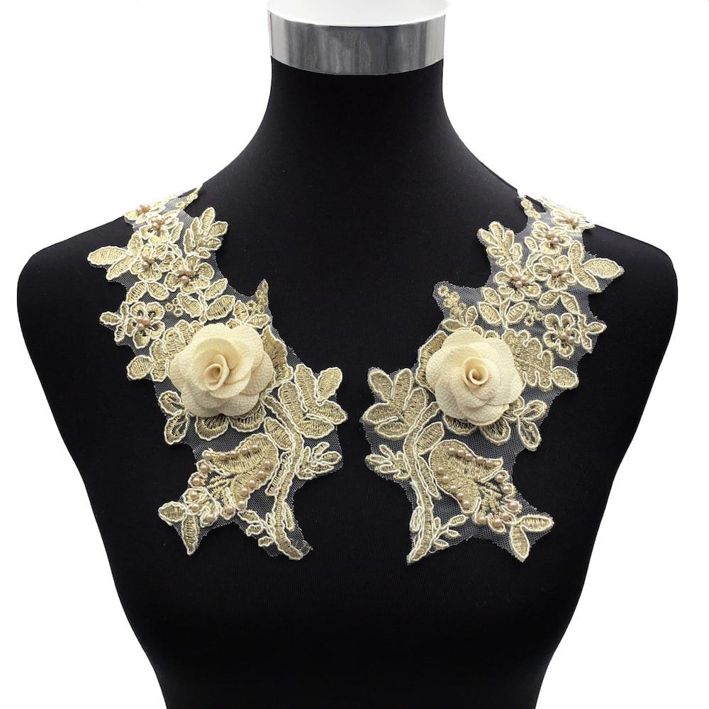2019 New Fashion Embroidery Applique Costume Decoration Dimensional Applique Decal