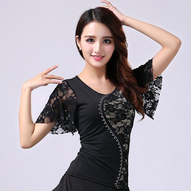 Бальные Танцы Блузка для девочек для современных танцев кружевное пальто короткий рукав для девочек кадриль рубашка плюс Размеры вальс танец костюм D-0028
