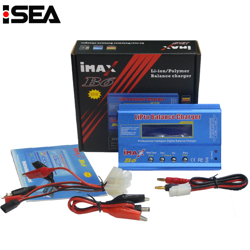 Hot Sale iMAX B6 80W DC Battery Balance Charger Discharger Charging Cable Sets with large / mini Tamiya Deans XT60 connector