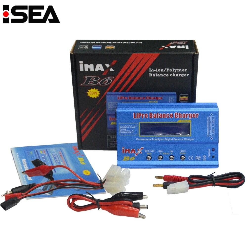 Venta caliente iMAX B6 80 W DC batería Balance cargador Discharger Cable de carga conjuntos con grande/mini Tamiya decanos XT60 conector