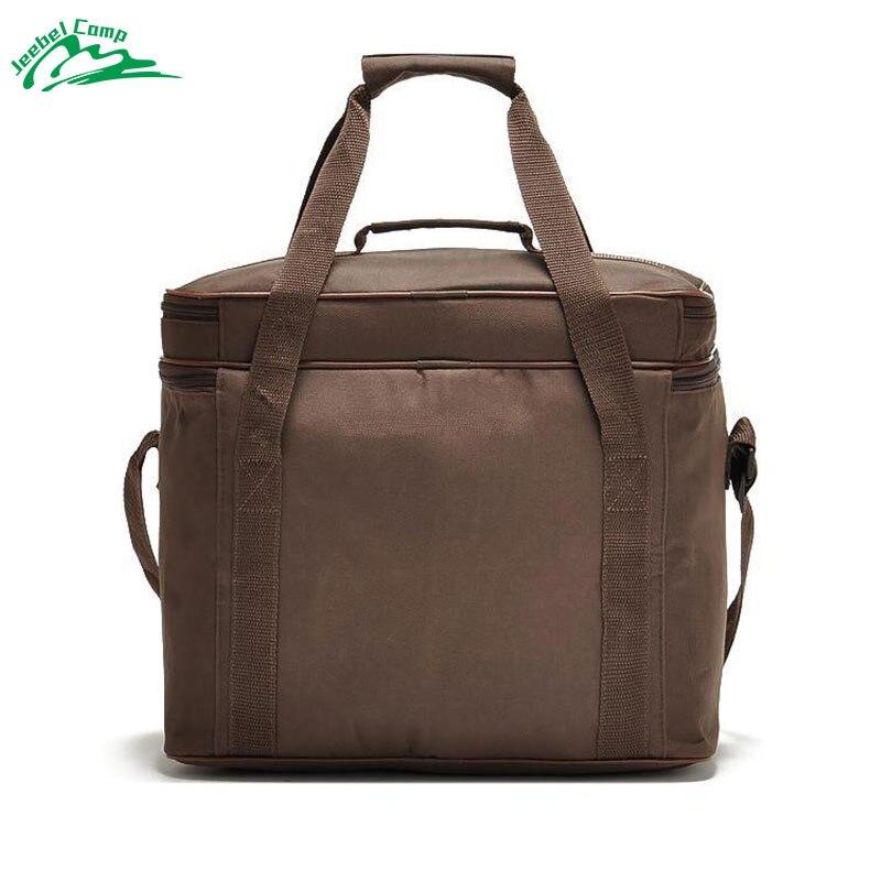 Jeebel 18L double-deck Outdoor Picnic Basket Bag Storage Thermal Bag Handbags Shoulders Camping Cooler Tote Thermo