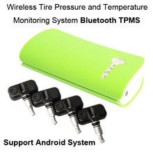 Bluetooth TPMS for Andriod Phone and iphone Wireless Tire Pressure Monitoring System 4pcs Internal sensor
