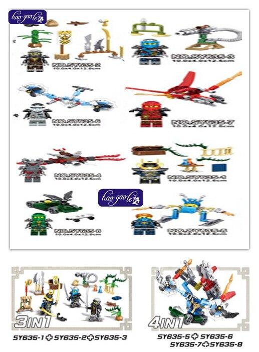 320 PCS SY635 Phantom  Jay Kai Cole Nada Khan Zane Armes Squelette Building Blocks Briques Jouets Cadeaux pour enfants nada barbara
