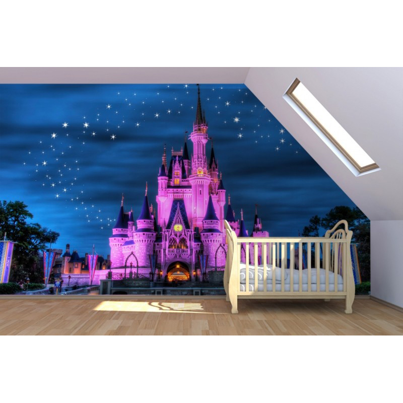 Aliexpress.com : Buy ShineHome Cartoon Purple Castle Mural Fairytale  Wallpapers 3 D Kids Children Baby Girls Living Room Bedroom Custom Wall  Paper From ... Part 70