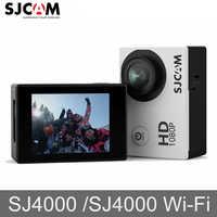 Original SJCAM SJ4000 SJ4000 WIFI 2 Pantalla Deportes HD 1080 P 30 M impermeable GO Pro videocámara Cámara de Acción mini DVR deportes
