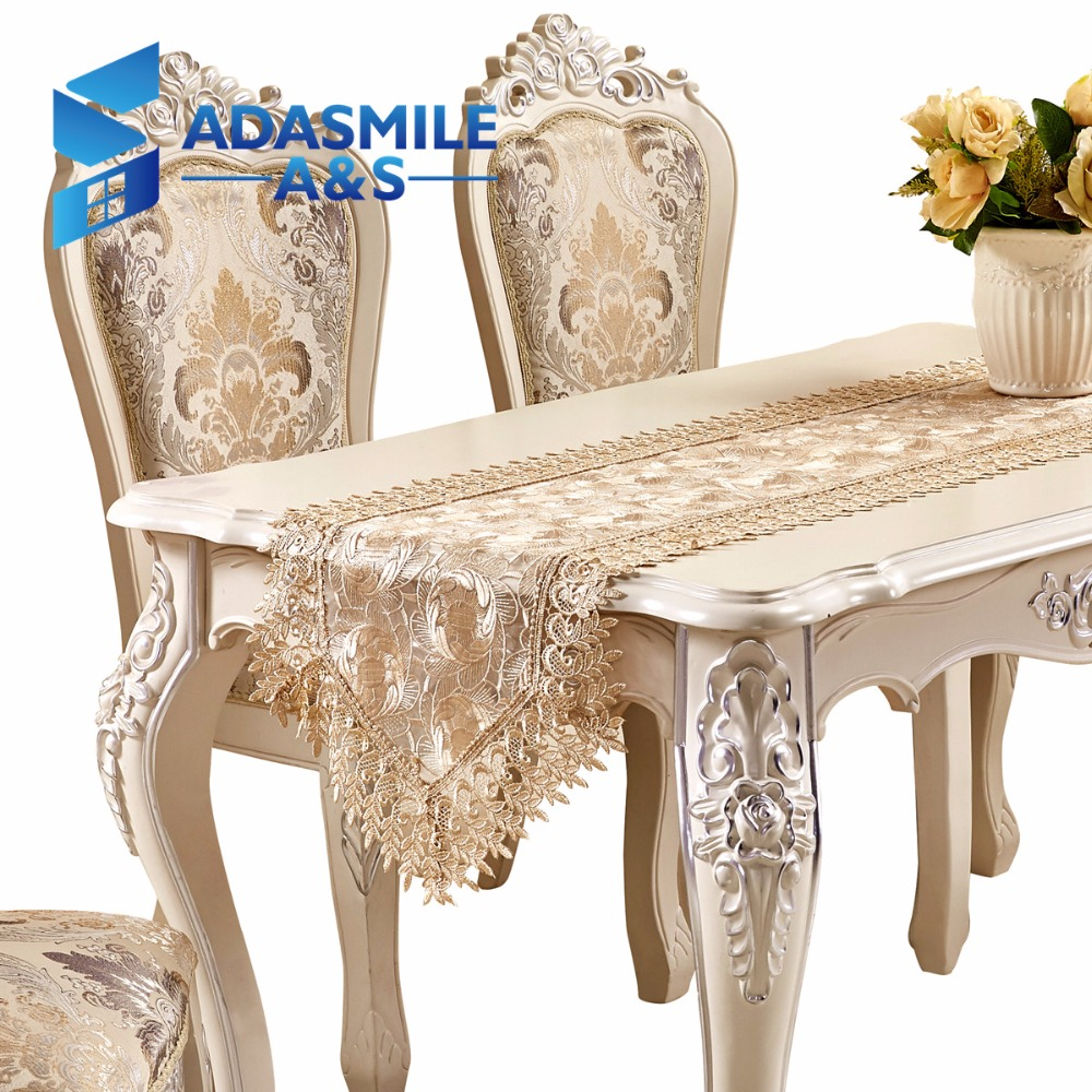 Hot Sale Lace Embroidered Floral Polyester Elegant Table Runner Dinning  Table Flag Party Wedding Table Cloth In Table Runners From Home U0026 Garden On  ...