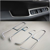 FIT FOR 2014 2015 PORSCHE MACAN CHROME DOOR WINDOW SWITCH PANEL COVER TRIM 4PCS