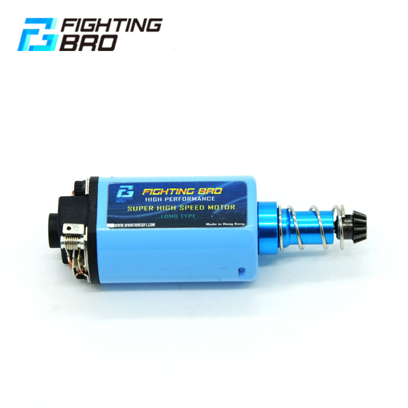 Купить с кэшбэком FightingBro MAX SPEED MOTOR LONG TYPE High Torque Type Strong Magnet for Airsoft AEG Ver3 AK Metal high speed