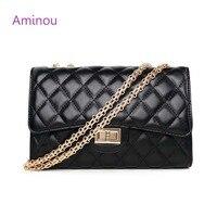 Fashion Small Flap Bag Crossbody Bags Women Luxury Quilted Paild Chains Shoulder Handbag Famous Brand Design