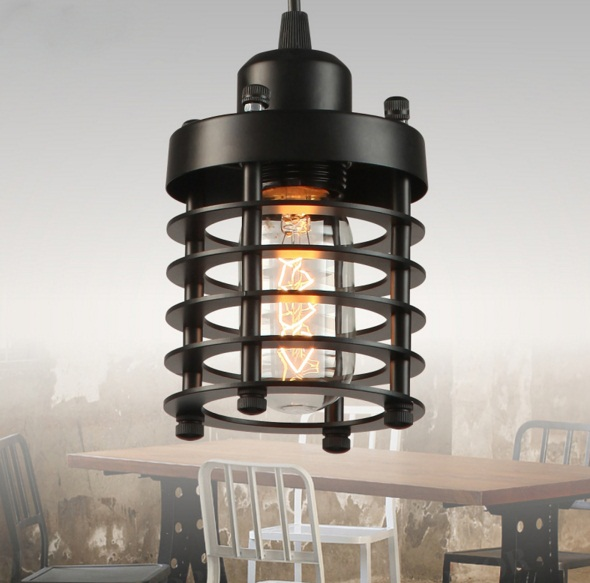 Single Head Iron Restaurant Bar Creative Retro Bedroom Stairs American Industrial Circles Chandelier american retro industrial pipes creative personality hallway stairs restaurant bar single head iron led wall lamp ac220v