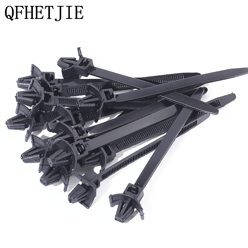 QFHETJIE 15 Pcs Wire Harness Fastener Cable Ties Management Tie-Line For Car Corrugated Pipe Tie Wrap Cable Clamp Clips