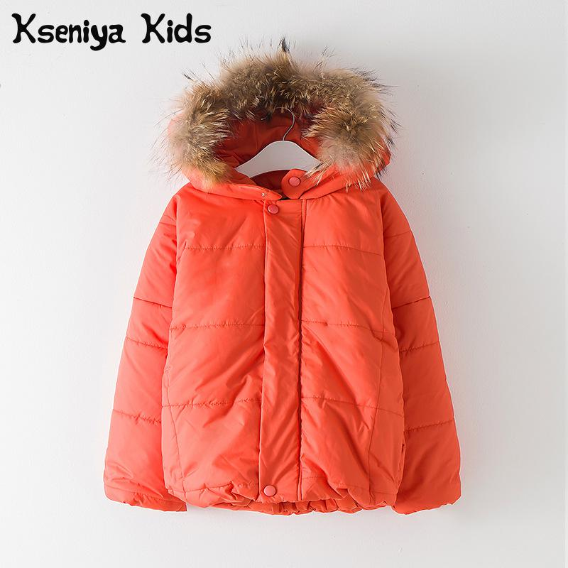 купить Kseniya Kids Big Little Girl Winter Jackets Coat Kids Overcoat Campera Abrigo Nenas Invierno недорого