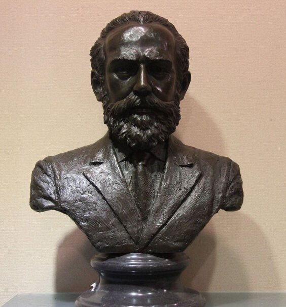 Western Art Bronze Copper Marble Figurine Tchaikovsky Musician Statue Sculpture