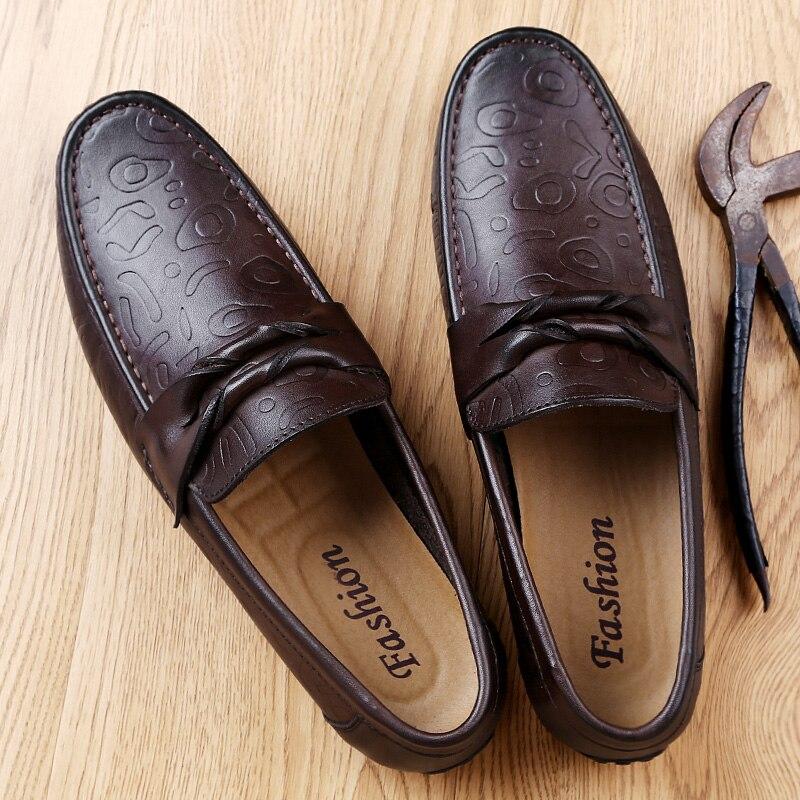 Véritable brown Mocassins De 5 Cuir Hommes Mode 2017 Luxe Black En Chaussures Conduite Appartements Nouveaux Casual tsrQxdCh
