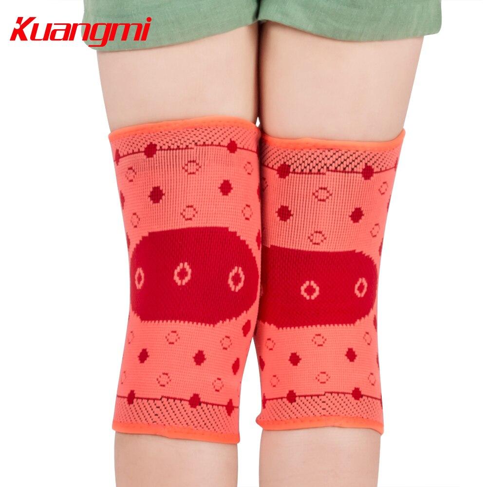 Kuangmi 1 Pair Children Koleno Sleeve Elastické chrániče kolen Sportovní podpora Zabraňte zranění dítěte Komprese dětí