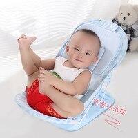 Foldable Baby Bath Tub Bed Newborn Baby Bath Seat Chair Baby Shower Nets Infant Bath Bathtub Support