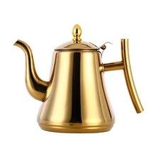 1L/1.5L/2L утолщенный 304 чайник из нержавеющей стали, индукционный Ретро чайник, кофейник и ситечко для заварки, кухонный бойлер для воды
