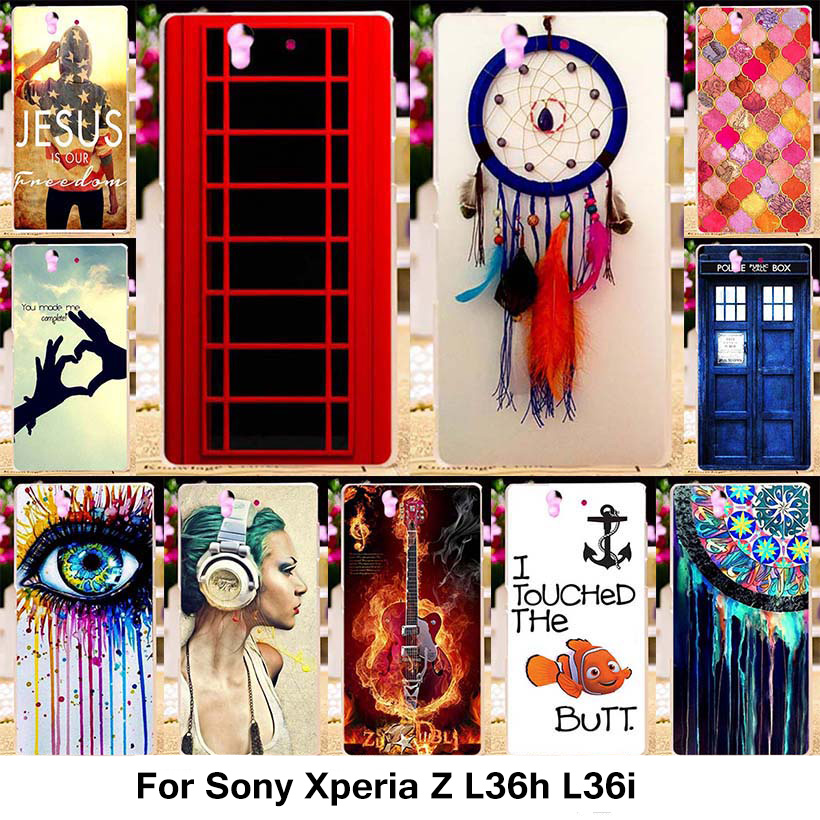 TAOYUNXI Silicone Phone Cover Case for Sony Xperia Z L36h C6602 5.0 inch C6603 L36i Case TPU Plastic Cover Dreamcatcher Shell