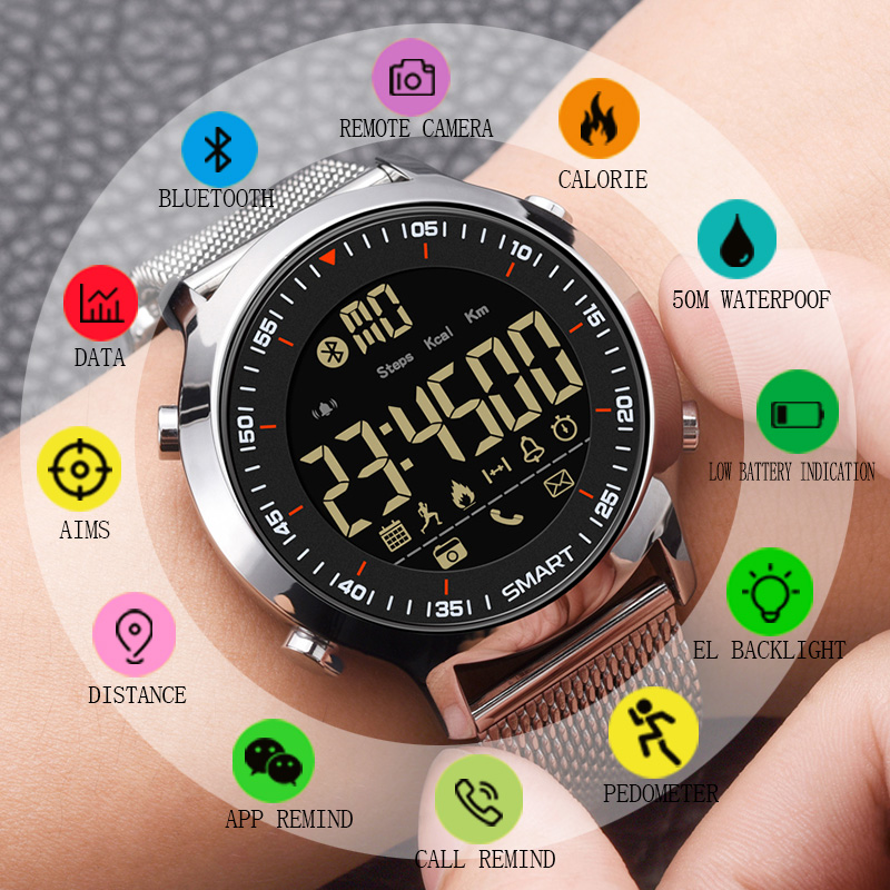 SYNOKE Smart Watch Waterproof IP68 5ATM Message Reminder Ultra long Standby Xwatch Chronograph Sport Smartwatch Gift for men