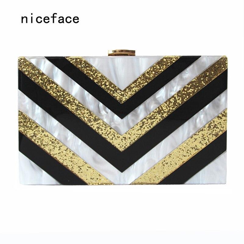 Brand fashion Women new wallet elegant designer handbags high quality Acrylic party prom Clutch luxury patchwork evening bag Hot