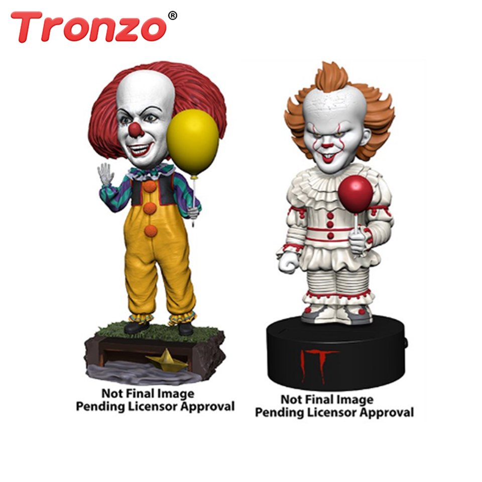 цены на Tronzo Action Figure NECA Pennywise IT Figure 18cm IT Clown Model Collection Decor For Halloween Decoration Horro Gift в интернет-магазинах