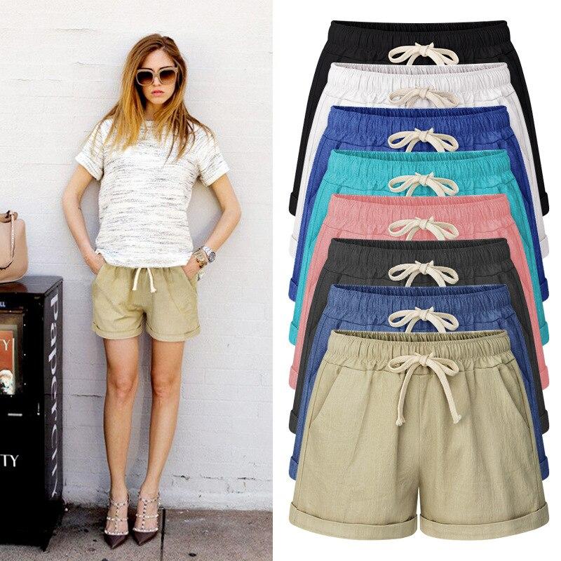 2019 Summer cotton jeans   shorts   women harem big size   shorts   For women Plus Size   shorts   7 colors M-6XL