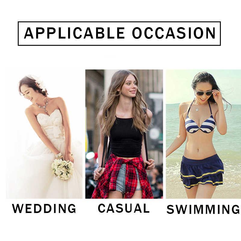 Las mujeres de silicona de las mujeres ropa interior Invisible sujetador adhesivo vestido vendaje Blackless sólido sujetador