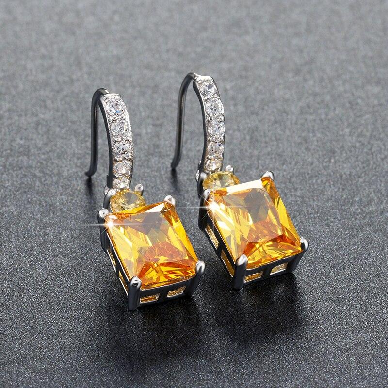 ORSA JEWELS Store gule sten Zirkon øreringe smukke dingle øreringe - Mode smykker - Foto 4