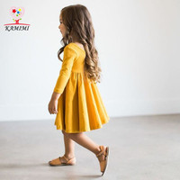 Kamimi 2017 Spring Party Dress Elegant Forest Style Princess Girls Dresses Fashion Baby Kids Soft Dress
